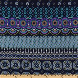 Blue Medallian Fabric