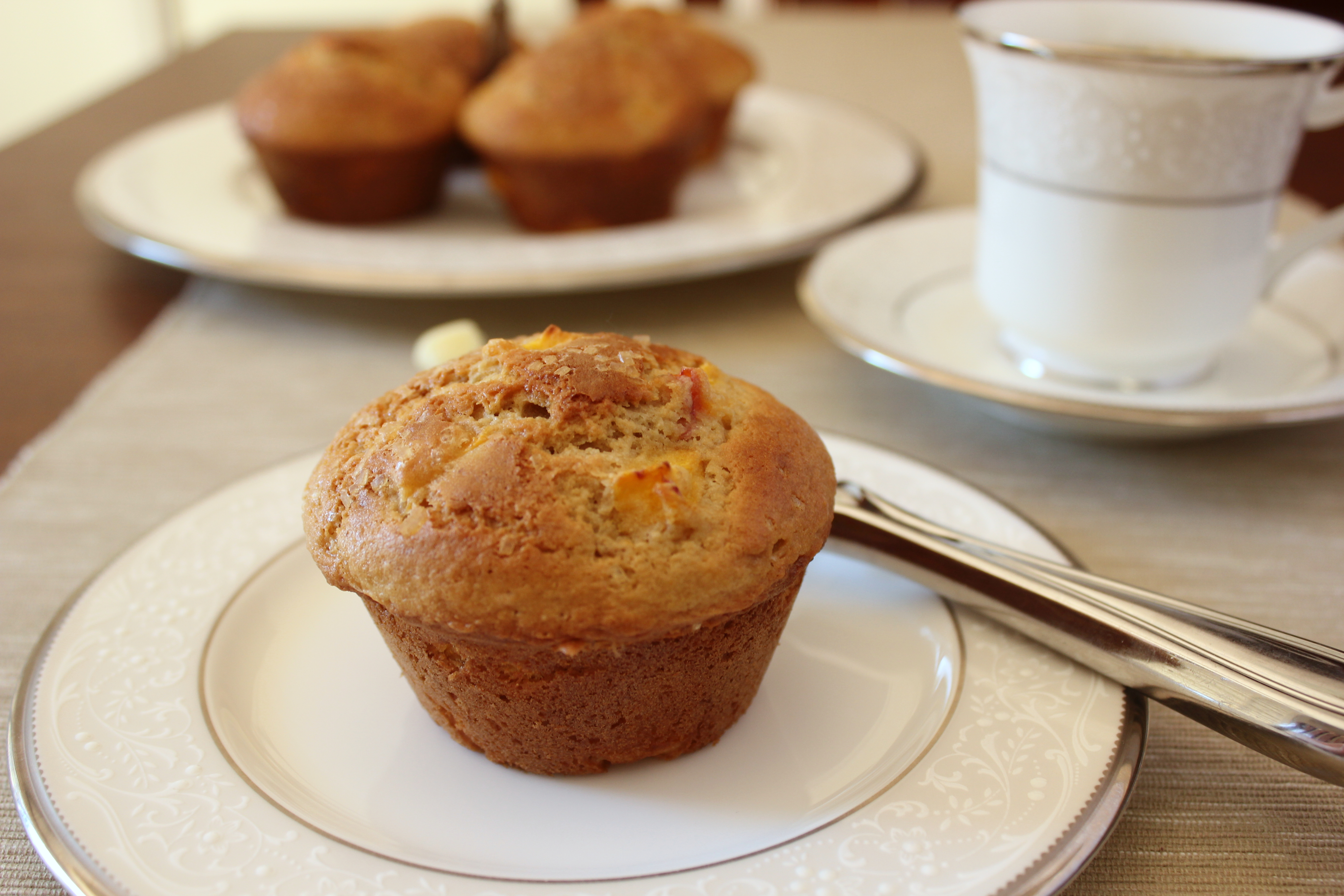 Peaches 'N Cream Muffins Recipe — Dishmaps