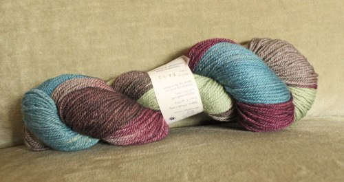 Christmas at Downton.  I love the colors of this hand-dyed yarn!