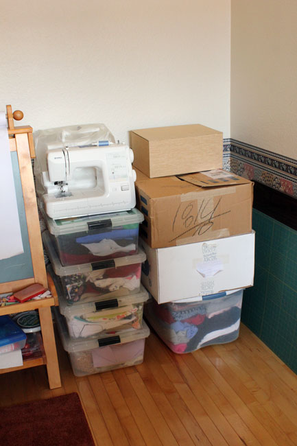 Bye-bye sewing stuff!