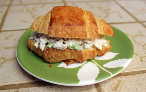 We had chicken salad sandwiches on our croissants!