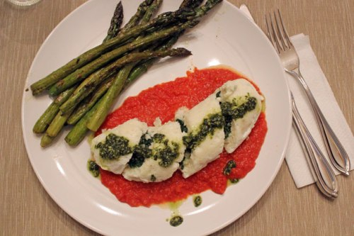 Cod & Spinach Roulade