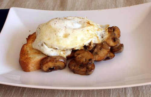 Creamy Mushrooms & Eggs