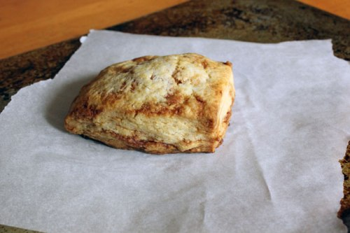 "Cinnamon Honey Scone baked in a ""standard"" oven."