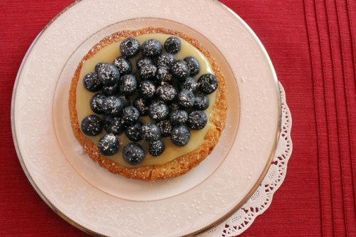 Sable Breton Galette with Blueberries