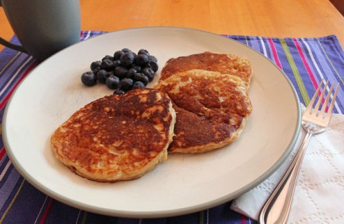 Crunchy Whole-Wheat Walnut Pancakes