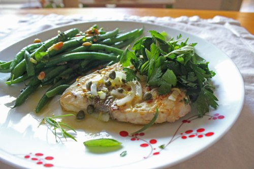 Swordfish with Herb Salad