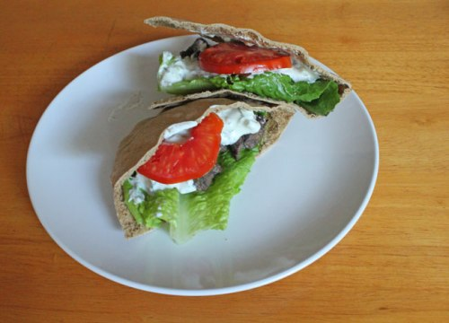 Greek Lamb Pitas
