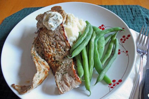 Veal Cutlets with Rosemary Butter