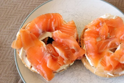 Lox and Cream Cheese on a Bagel