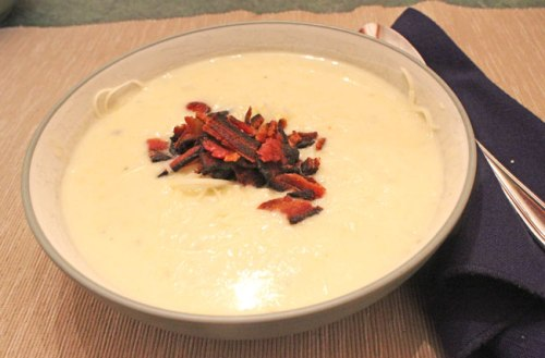 Leek & Potato Soup with Bacon