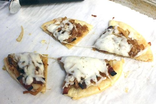 Mozzarella and Onion Tartes Fines