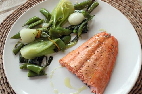 Veggies with Salmon