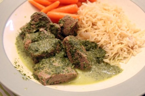 Green-as-Spring Beef Stew