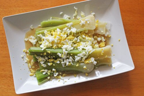 Leeks Vinaigrette with Mimosa