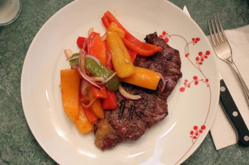Piperade and Steak
