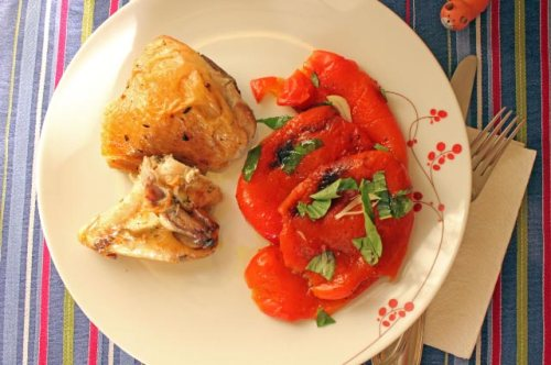 Roasted Peppers and Chicken