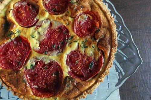 Tomato-Mustard Tart