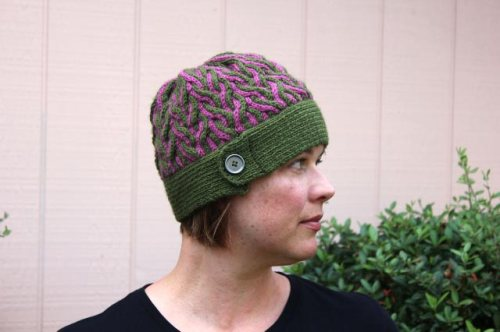 Corkscrew Hat with Button