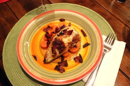 Monkfish and Double Carrots