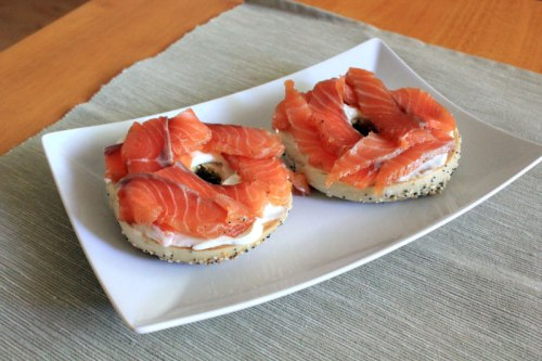 Dilled Gravlax on Bagels